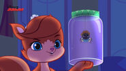 Treasure with a spider in a jar