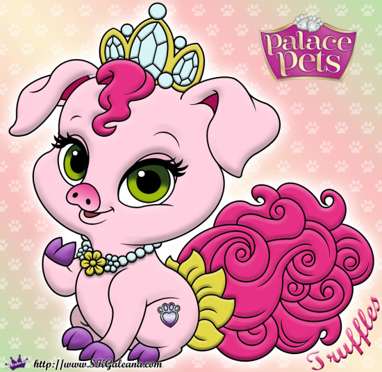 Image Truffles Princess Palace Pet Coloring Page SKGaleana image