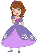 Sofia In New Dress Clipart 1