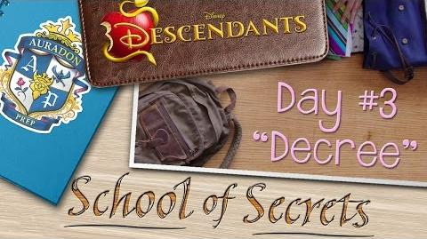 Day 3 Decree School of Secrets Disney Descendants