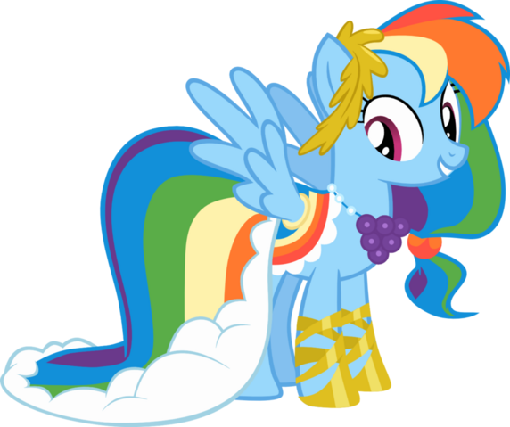 File:Rainbow dash gala dress vector by ponycandance-d5au4wg.png