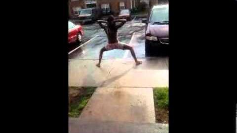 TWERKING IN THE RAIN