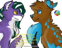 Violet and Crest