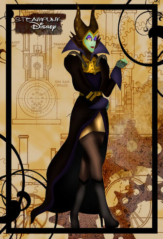 Steampunk maleficent by helleetitch-d3jduaa