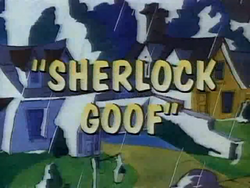 Sherlock Goof