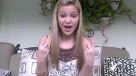 Olivia Holt facebook video january 2012