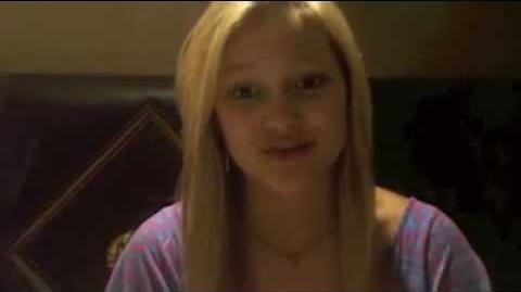 Olivia Holt facebook video july 2011