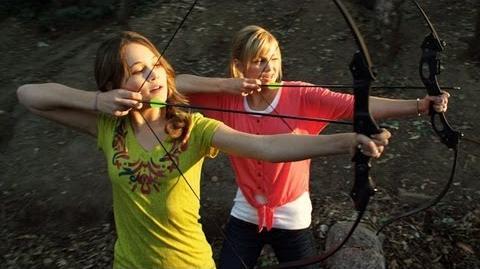 Archery Skills with Olivia Holt and Kelli Berglund