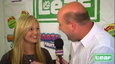 Olivia Holt interviewed by Brian Whitman for the Leaf Candy booth