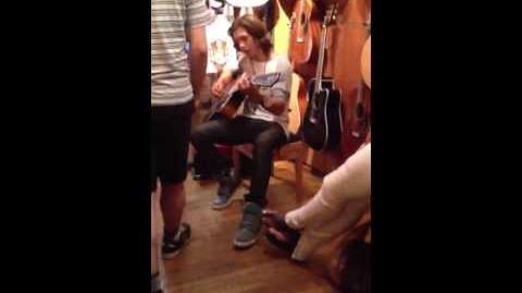 Leo Howard playing guitar!
