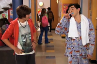 Jerry at school in his PJ's