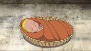 Naruto inside a basket