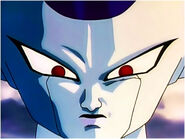 Frieza mad stare at Goku and his friends