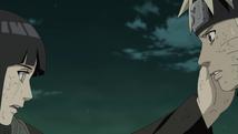 Hinata encouraging Naruto