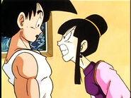 Goku and Chi-Chi agrues