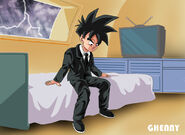 Dragon ball z commission 21 gohan thinking by ghenny-d9z8hgy