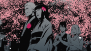 Naruto and Hinata congradulated by team 7