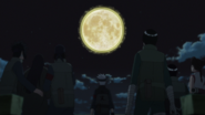 Kakashi and his staff witness the moon split