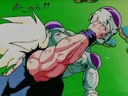 Frieza punched by SSJ Goku