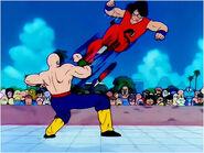 Yamcha kicking at Tien