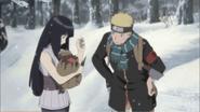 Naruto and Hinata finds Hanabi's kunai