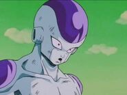Frieza ready to attack Goku with his 50% power