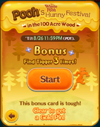 Pooh's Hunny Festival Bonus Card Start