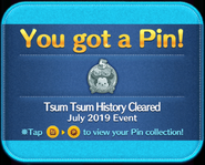 Tsum Tsum History Cleared silver pin GET!