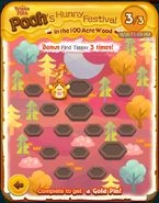 Pooh's Hunny Festival Bonus Card Cleared