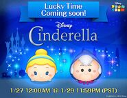 DisneyTsumTsum LuckyTime International CinderellaFairyGodmother Teaser TwitterAd 201701