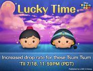 DisneyTsumTsum Lucky Time International AladdinJasmine LineAd 20160715