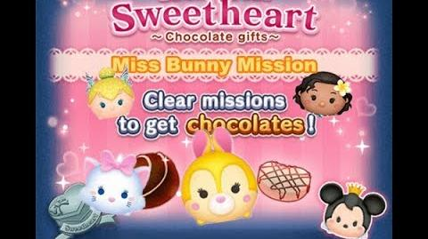 Disney Tsum Tsum - Miss Bunny, Marie, Parade Tinker Bell & Moana (Tsum Tsum Sweetheart Event)