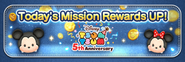 Banner for Today's Mission Rewards UP! 30 Jul~1 Aug19