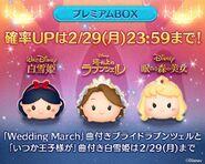 DisneyTsumTsum LuckyTime Japan SnowWhiteBrideRapunzelPrincessAurora LineAd2 201602