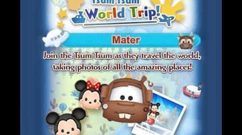 Disney Tsum Tsum - Mater (Tsum Tsum World Trip - 1st Trip 7 - 9)