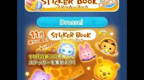 Disney Tsum Tsum - Drossel (Sticker Book Event Card 3 - 9 Japan Ver)