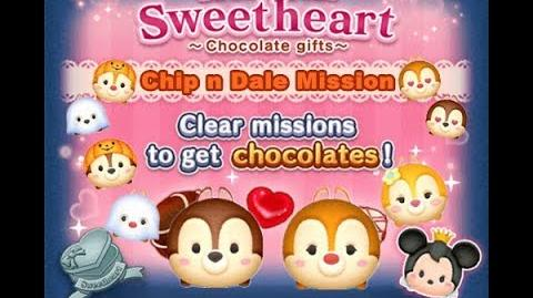 Disney Tsum Tsum - Chip n Dale (Tsum Tsum Sweetheart Event) Card 1 Boys Side Chip n Dale Mission