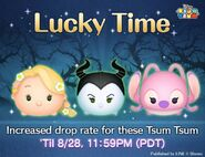 DisneyTsumTsum LuckyTime International RapunzelMaleficentAngel LineAd 20160825