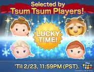 DisneyTsumTsum LuckyTime International BelleBeastSurpriseElsaBirthdayAnna LineAd 201702