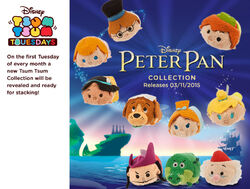 DisneyTsumTsum PlushSet PeterPan Mini Banner 2015