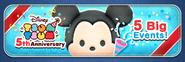 Banner for Tsum Tsum 5th Anniversary special events