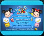 Tsum Tsum 5th Anniversary Premium Tickets