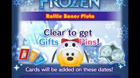 Disney Tsum Tsum - Rattle Bones Pluto (Frozen Event - Card 7 - 5)-0