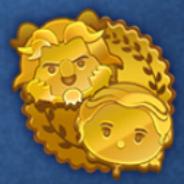 DisneyTsumTsum Pins BeautyAndTheBeastScoreChallenge Gold