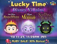 DisneyTsumTsum LuckyTime International EvilQueenUrsulaMaleficentDragon LineAd 201611