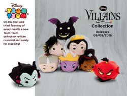 DisneyTsumTsum PlushSet Villains uk 2016 Mini Banner