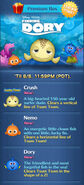 DisneyTsumTsum LuckyTime International NemoCrushDory Screen 201708