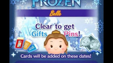 Disney Tsum Tsum - Belle (Frozen Event - Card 7 - 6)