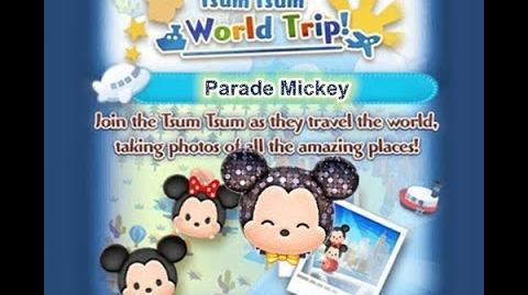 Disney Tsum Tsum - Parade Mickey (Tsum Tsum World Trip - 1st Trip 2 - 8)
