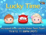 DisneyTsumTsum LuckyTime International BirthdayAnnaLightningMcQueenSurpriseElsa LineAd 201609